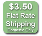 Flat Rate DomesticShipping $3.50