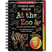 Drawing Books :Scratch and Sketch: At The Zoo