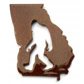 Bigfoot Metal Art :Georgia Bigfoot Magnet - Bigfoot Gift