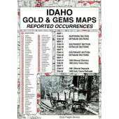 Historical Site and Related Guides :Idaho Gold and Gems Map, Then and Now