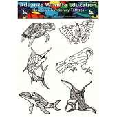Stickers & Magnets :Hawaiian Temporary Tattoos (6 x 8)