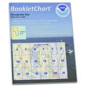 """Atlantic Coast Charts :NOAA BookletChart 12280: Chesapeake Bay, Handy 8.5"""" x 11"""" Size. Paper Chart Book Designed for use Aboard Small Craft"""