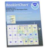 """Pacific Coast Charts :NOAA BookletChart 18521: Columbia River Pacific Ocean to Harrington Point;Ilwaco Harbor, Handy 8.5"""" x 11"""" Size. Paper Chart Book Designed for use Aboard Small Craft"""