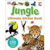 Stickers & Magnets :Ultimate Sticker Book: Jungle: More Than 250 Reusable Stickers