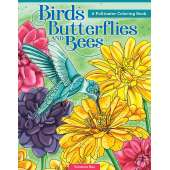 Coloring Books :Birds, Butterflies, and Bees: A Pollinator Coloring Book