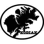 Customs & Named Metal Art :Kodiak Island Oval MAGNET