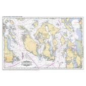 Placemat Charts :Placemat of San Juan Islands and Victoria, BC