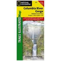 Pacific Northwest Travel & Recreation :Columbia River Gorge (National Geographic Map)