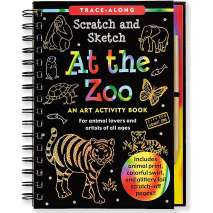 Drawing Books, Scratch and Sketch: At The Zoo