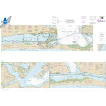 Waterproof NOAA Charts, Waterproof NOAA Chart 11308: Intracoastal Waterway Redfish Bay to Middle Ground