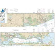 Waterproof NOAA Charts, Waterproof NOAA Chart 11322: Intracoastal Waterway Galveston Bay to Cedar Lakes