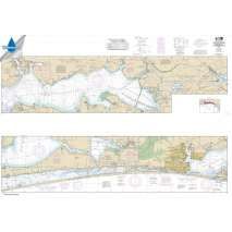 Waterproof NOAA Charts, Waterproof NOAA Chart 11385: Intracoastal Waterway West Bay to Santa Rosa Sound