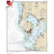 Small Format NOAA Charts, Small Format NOAA Chart 11412: Tampa Bay and St. Joseph Sound