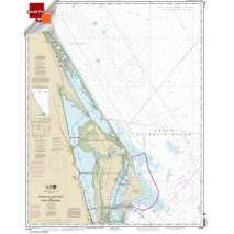 Atlantic Coast Charts :Small Format NOAA Chart 11484: Ponce de Leon Inlet to Cape Canaveral