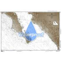 Region 2 - Central, South America, Waterproof NGA Chart 21014: Mexico West Coast Cabo San Lazaro to Cabo San Lucas and Southern Part of Golfo de Californa