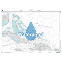 Region 2 - Central, South America, Waterproof NGA Chart 27005: Key West to San Juan