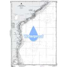 Region 6 - Eastern Africa, Southern & Western Asia, Waterproof NGA Chart 63015: Calimere Point to Kalingapatam