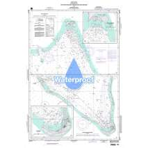 Region 8 - Pacific Islands, Waterproof NGA Chart 81711: Roi Anchorage Kwajalein Anchorage and Approaches