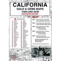 Historical Site and Related Guides, California (Southern) Gold and Gems Map, Then and Now
