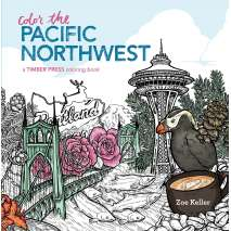 Adult Coloring Books, Color the Pacific Northwest