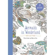Journals, Cards & Stationary, Mermaids in Wonderland 20 Postcards: An Interactive Coloring Adventure for All Ages