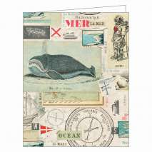 Nautical Nostalgia GreenNotes, Eco-Friendly Boxed Notecard Set Stationery