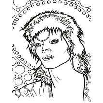 Coloring Books :David Bowie: Color the Starman