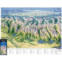 Rocky Mountain and Southwestern USA Travel & Recreation :Grand Teton/Targhee Panoramic Hiking Map