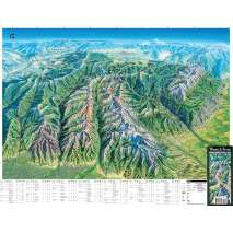 Rocky Mountain and Southwestern USA Travel & Recreation :Wasatch Front Panoramic Hiking Map