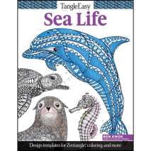Adult Coloring Books, Tangle Easy: Sea Life Coloring Book