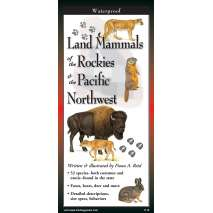 Reptile & Mammal Identification Guides, Land Mammals of The Rockies & The Pacific Northwest