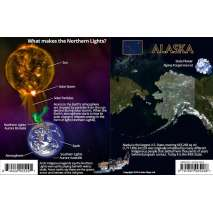 Alaska Northern Lights Guide LAMINATED CARD