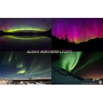 Astronomy Guides, Alaska Northern Lights Guide LAMINATED CARD