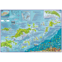 Caribbean Travel Related :British Virgin Islands DIVE MAP & ADVENTURE GUIDE