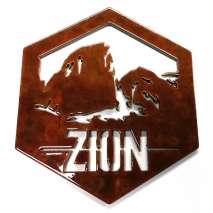 Custom Metal Work :Zion National Park Custom Magnet