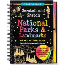 Activity Books, Scratch and Sketch: National Parks & Landmarks