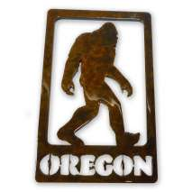 Bigfoot Metal Art, Bigfoot in frame w/ Oregon MAGNET
