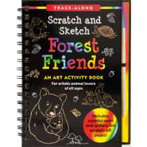 Drawing Books, Scratch & Sketch: Forest Friends