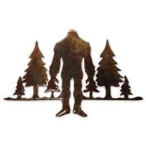 Bigfoot Metal Art, Cryptid & Trees MAGNET