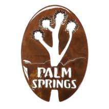 Magnets & Metal Art, Palm Springs w/Joshua Tree Oval MAGNET