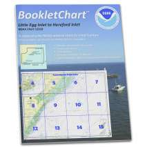 Atlantic Coast Charts :NOAA BookletChart 12318: Little Egg Inlet to Hereford Inlet;Absecon Inlet
