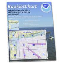 Atlantic Coast Charts :NOAA BookletChart 12326: Approaches to New York Fire lsland Light to Sea Girt