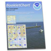 """Atlantic Coast Charts :NOAA BookletChart 12327: New York Harbor, Handy 8.5"""" x 11"""" Size. Paper Chart Book Designed for use Aboard Small Craft"""