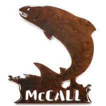 Custom Metal Work :McCAll Jumping Fish MAGNET
