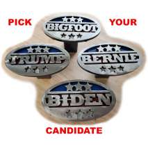 Magnets & Metal Art :BERNIE Trailer Hitch Cover - Heavy duty steel - Made in USA