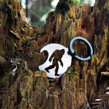 Bigfoot Novelty Gifts :Bigfoot Round Bottle Opener/Keychain - Bigfoot Gift