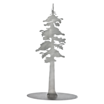 Metal Displays & Stand-ups :Stainless Steel Redwood Tree Stand-Up