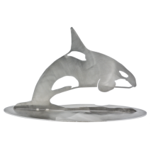 Metal Displays & Stand-ups :Stainless Orca Stand-Up