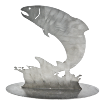 Metal Displays & Stand-ups :Stainless Jumping Fish Stand-Up
