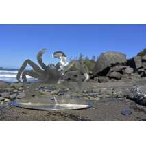 Metal Displays :Stainless King Crab Stand-Up